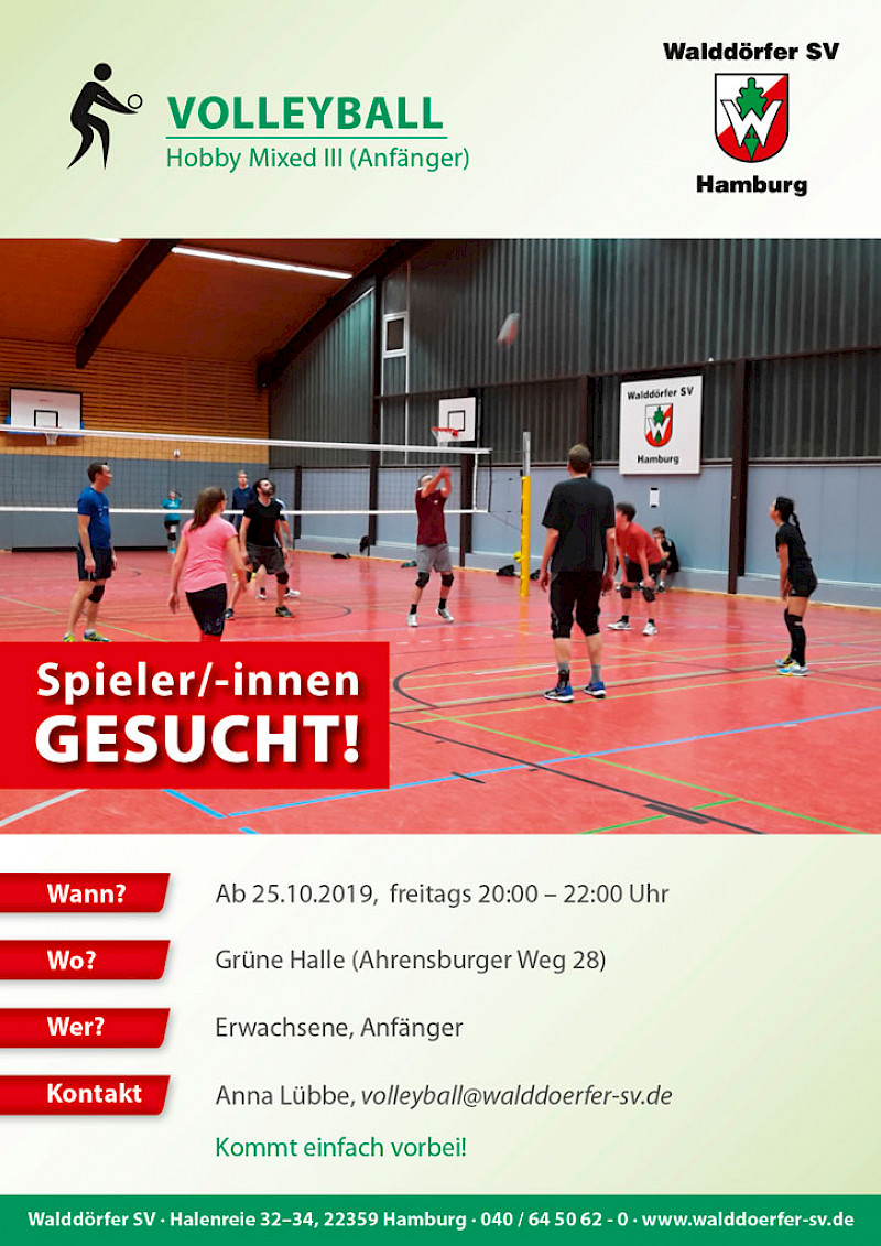 Neue Hobby Mixed Gruppe Volleyball