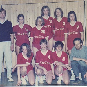 Damen-Basketballmannschaft 1984 in der Regionalliga